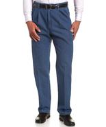 Haggar Men's Work-To-Weekend Hidden Expandable-Waist Denim Pleat-Front Pant - $43.40