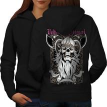 Valhalla Graveyard Sweatshirt Hoody Monster Skull Women Hoodie Back - $21.99+