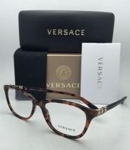 New VERSACE Eyeglasses 3213-B 944 52-17 140 Havana Tortoise Frames with Crystals
