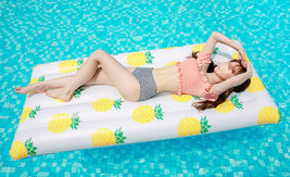 Adults Big Pineapple Inflatable Pool Raft Water Bed Hammock Ride On Float Tube image 4