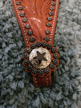 Hair On Star Cutout Leather Bronc Noseband image 2