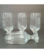 Lot of 4 Libbey Glassware CHIVALRY 12 OZ Beer Water Clear Footed Glass #... - $26.09