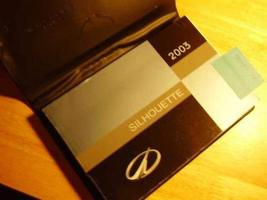 2003 Oldsmobile Silhouette Owners Manual [Paperback] [Jan 01, 2003] Olds... - $41.53