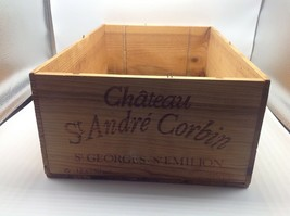 Wine Box Case Crate 12 Bottle French Chateaux St Andre Corbin Moueix Fra... - $29.02