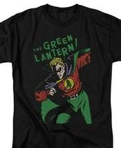Green Lantern T-shirt retro 60s DC comic book cartoon superhero black tee DCO809 image 1