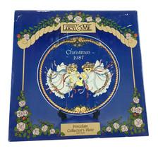 Lucy & Me Christmas 8 Inch Teddy Bear Porcelain Collector Plate 1987 Enesco - $13.09