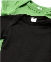 Marky G Apparel Baby Boys' Fine Jersey Bodysuit 2pk Black/Green Apple- 18 Months image 2