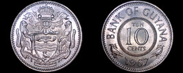 1967 Guyana 10 Cent World Coin - $5.99