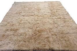 Alpakaandmore Light Brown Suri Alpaca Furry Carpet Fleece Fabric Covered (78.7 x - $608.85