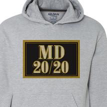 MD 20 20 wine Hoodie retro vintage style distressed print grey graphic tee shirt image 2