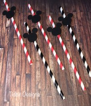 Mickey Mouse Themed Birthday Party Straws. Pack of 10 - $4.50
