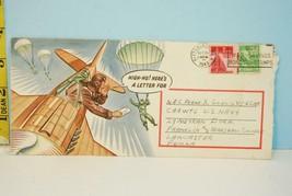 1943 World War II Envelope with Artwork Airplane & Parachutist - Stamped... - $19.89
