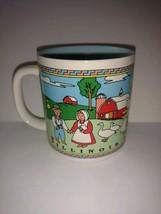 Vintage Cup Illinois Amish Country Coffee Mug Made In Korea 8 Oz - $22.76