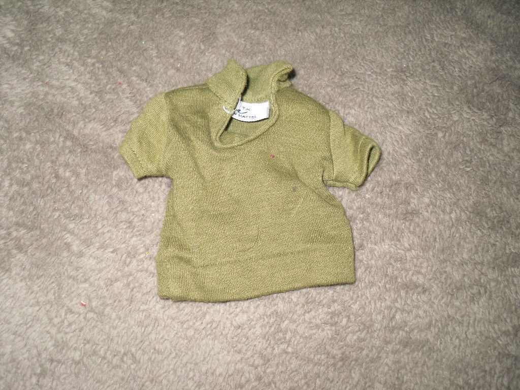Mattel Barbie Doll Clothes - Ken Pak Green Polo Shirt - 1962 BW Label