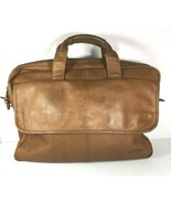Dilana Brown Leather Briefcase Bag – Missing Strap- Distressed - $34.91