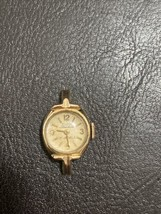 Vintage Elgin Starlite 17 Jewels Winder Watch Works Gold Tone 10K Rgp Bezel - $10.39