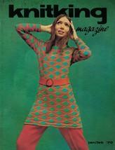 KnitKing Feb 1970 Vintage Machine Knitting Patterns Hip Boho Retro Hippi... - $9.89