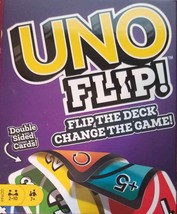 UNO FLIP! Double Sided Card Game for 2-10 Players Ages 7Y+ (LOC EC-11) - $10.39