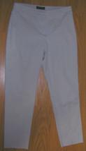 New Women's Pants Capris Sz 6 Avg New York & Co Slim Mid Rise Khaki 30 i... - $14.39