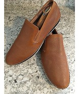 ZANZARA Merz Slip-on Loafer Driver Shoes Cognac Leather ZC111C38 Men's S... - $23.71