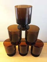 Vintage 70s Georges Briard Lucite Cocktail Glasses - Set of 6 image 4