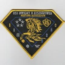 "5"" USN NAVY USS EISENHOWER CVN-69 MUSTANG ASSOCIATION EMBROIDERED PATCH - $18.99"