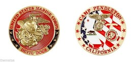 CAMP PENDLETON MARINE CORPS BASE MILITARY EGA DEVIL DOGS  CHALLENGE COIN - $16.24
