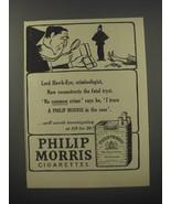 1954 Philip Morris Cigarettes Ad - Lord Hawk-Eye, criminologist - $14.99