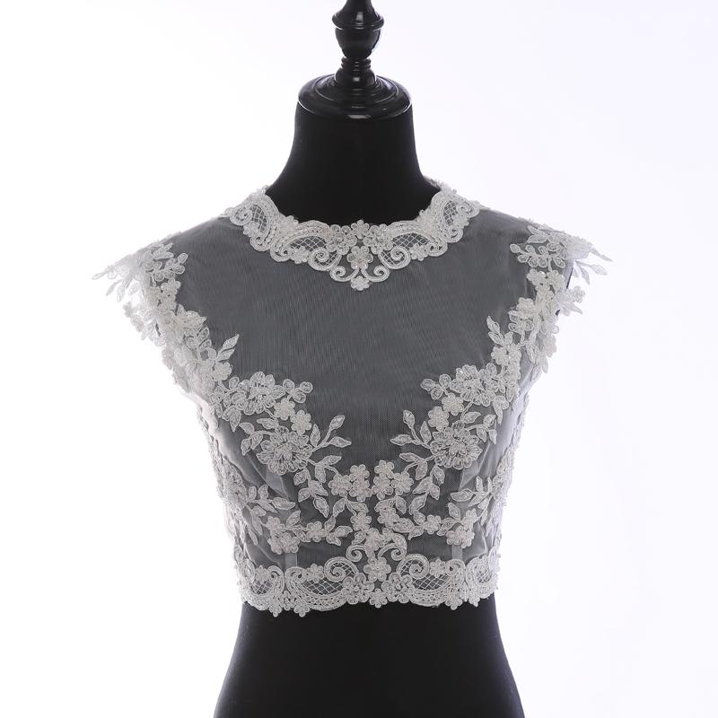 Lace top illusion neck sleeveless  4