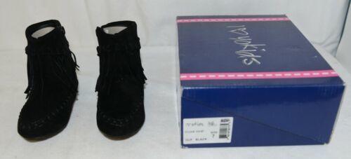 I Love Yo Kids AVA 92T Girls Fringe Boot Black Zip Up Size Seven