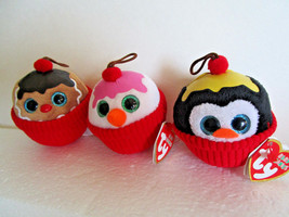 TY Baby Beanies CUPCAKES LOT Plush Toy Decorations GELATO COCO FLAKES NE... - $10.99