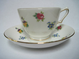 Crown Staffordshire Bone China Teacup and Saucer - $15.00