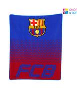 FC BARCELONA FADE FLEECE BLANKET COVER QUILT FOOTBALL SOCCER CLUB TEAM NEW - $23.06