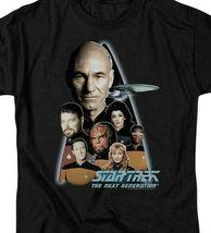 Star Trek The Next Generation Crew Capt Jean-Luc Picard graphic t-shirt CBS161 image 3
