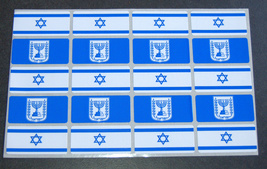 Judaica Atzmaut Menorah Flag 200 Stickers Kids Teaching Aid Israel Educational