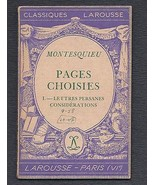 Larousse Paris Montesquieu Lettres Persanes 1934 France - $14.99