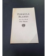 Formula Blanks For use with Milk Vintage Booklet Rare - $9.87