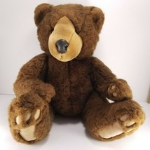 "Grizzles Russ Berrie Brown Plush Stuffed Animal Teddy Bear Large 17"" Cur... - $19.79"