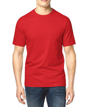 NEW MENS CLUB ROOM CREW NECK RED SHORT SLEEVE COTTON T SHIRT TEE L - $8.99