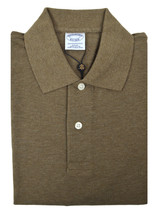 Brooks Brothers Mens Brown Slim Fit Pique Cotton Polo Shirt Sz Small S 3868-6 - $50.48