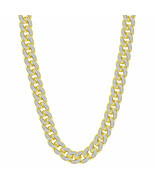 10kt Yellow Gold Mens Round Diamond Cuban Link Chain Necklace 13-1/5 Cttw - £13,839.80 GBP