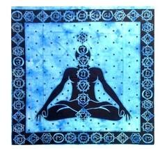 "100% Cotton Blue 7 Chakras Tapestry 82"" X 94"" - £7.56 GBP"