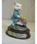 Ceramic Peter Porky Trotter Pig Leonardo Little Nook Village LN-28 1989 - $7.95