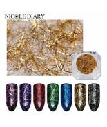 Nail Strip Colorful Metal Wire Line Matte Mirror Flakies UV Gel Polish V... - $3.45