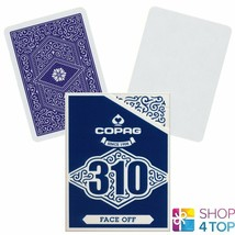 COPAG 310 FACE OFF POKER PLAYING CARDS DECK PAPER STANDARD INDEX BLUE NEW - $9.96