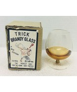 "MIB Vintage Japan Trick Brandy Glass 3 3/4"" Tall Trick Magic  - $26.24"