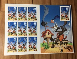 USPS 10邮票33C Road Runner,Wile Coyote Warner Brothers Looney Tune ...  -  $ 10.99