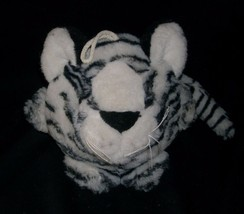 VINTAGE MAIN JOY LIMITED WHITE BLACK PURRING PURR TIGER STUFFED ANIMAL P... - $27.12