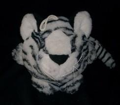 VINTAGE MAIN JOY LIMITED WHITE BLACK PURRING PURR TIGER STUFFED ANIMAL PLUSH TOY image 1