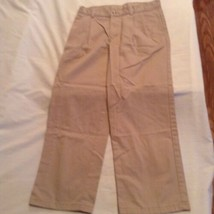 Boys Size 12 Husky Izod pants khaki uniform pleated pants - $5.99